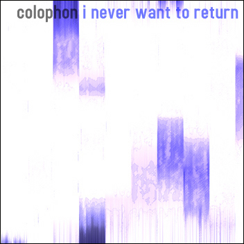 Cover of I never want to return
