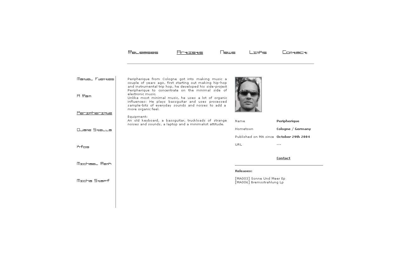 Screenshot Website Musicartistry